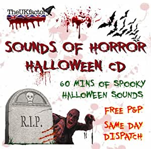 Halloween Sounds Of Horror CD * Spooky Scary Sounds Perfect For Halloween Parties from The UK Factory