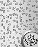 Dekorpaneel Rosen Dekor WallFace 13919 3D ROSE Blumen Design Paneel selbstklebend silber metallic   2,60 qm