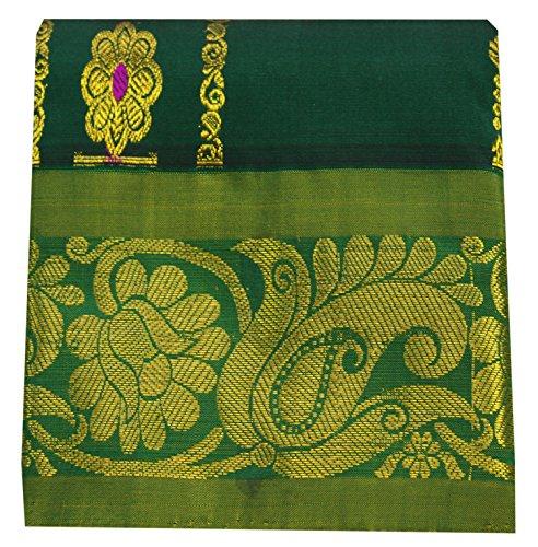 Saravanabava Silks - Kanchipuram Kids Pavadai Langa Jacket Set Pure Pattu &...