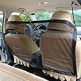 CHANG Auto-Schutz-Netz, Haustier-Auto-Sperren-Hundebarriere, Autositz-Schutz-Netz,Black,47.2*27.5IN