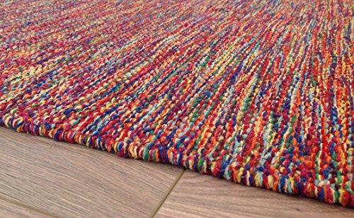 Mano Tejidas hilados de algodón India Alfombra en Multi colores 60cm x 90cm (Second Nature)