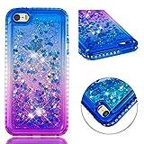 FroFine Coque iPhone 5S Silicone, Étuis iPhone 5 Se 3D Liquide Housse Téléphones...