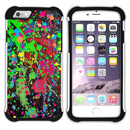 Graphic4You Flasche Farbe Farben Kunst Gemälde Malerei Hart + Weiche Kratzfeste Hülle Case Schale Tasche Schutzhülle für Apple iPhone 6 / 6S Design #8