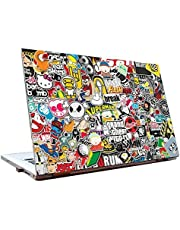 PIXELARTZ Laptop Skin GTA Stickers Collage 15.6 inches-Dell, Lenovo, Acer, HP and Sony Laptops