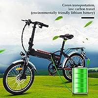 AIMADO Bicicletas Electricas de Montaña Plegable 18,7 Pulgadas para Mujeres, E-bike MTB 250W 25- 35 km/h, Aluminio, Batería de Litio 36V, Shimano 7 con Luz ...