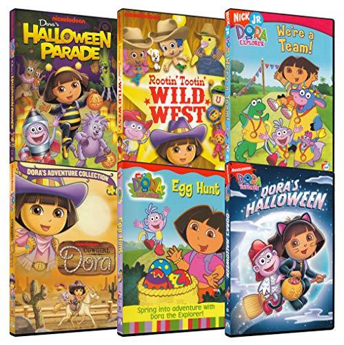 Dora Explorer 6-Pack Collection #2 (Dora: Halloween Parade / Dora: Rootin' Tootin' Wild West / Dora: We're a Team! / Dora: Cowgirl Dora / Dora: Egg Hunt / Dora's Halloween)