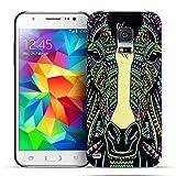 Conie Handyschale kompatibel mit Samsung Galaxy S5 Mini, Muster Bumper Rückschale Hülle mit Tier- Motiven Schutz- Case