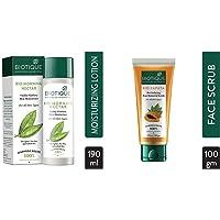Biotique Morning Nectar Flawless Skin Lotion for All Skin Types, 190ml & Biotique Bio Papaya Revitalizing Tan-Removal…