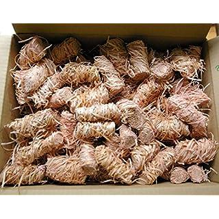Amafino Feuer-Anzünder 200 Stück Grillanzünder Kaminanzünder Ofenanzünder Holzwolle und wachs