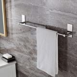 KES A7000S12 Bathroom Lavatory 3M Self Adhesive Single Towel Bar 13-Inch, Brushed Stainless Steel