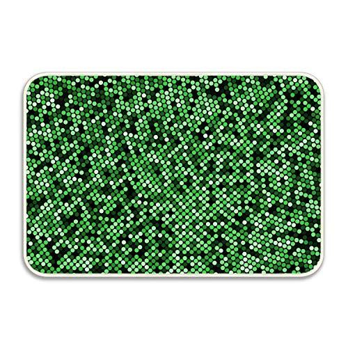 (jiilwkie Rubber Welcome Doormat Runner Inserts Indoor Outdoors Natural Easy Clean Floor USA Digital Flag Rug Door Mats for Entry Way Patio, Front Door, All Weather Exterior)