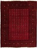 Carpetfine: Afghan Teppich 302x385 Rot - Handgeknüpft - Ornament