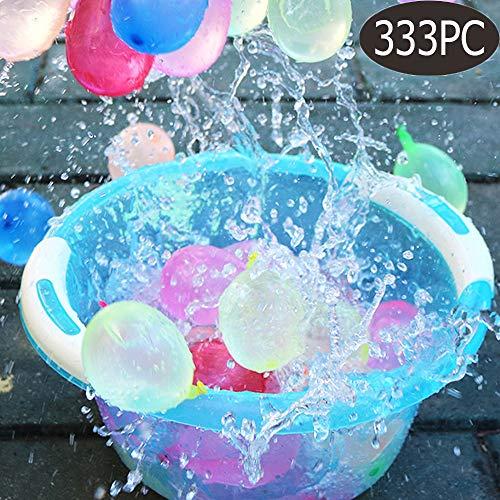 integrity.1 Luftballons Nachfüllpackung für Wasserzufuhr 333 Stück Wasserbomben selbst verschließend ohne Knoten Schnell Wasserballons füllen Fun Wasserkampf Spiel für Kinder & Erwachsene