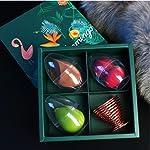 3+1 MAKEUP Beauty Sponge blenders Set With Travel Cases, RoseGold Holder, Multi-shaped, Durable, Soft, Latex-free...