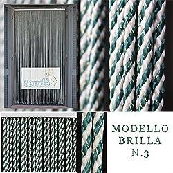 Rideaux pvc Modèle BRILLA - Mesure Standard - Anti mouche - Solide et de longue durée - matériel non toxique - Contactez-nous pour nous envoyer votre couleur! (130X240)