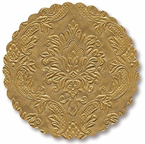 Für Untersetzer Gold Getränke (Untersetzer 12-teiliges SET Tischdeko gold mit Ornamenten Glasuntersetzer)