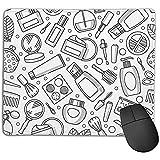 Einzigartige Mausunterlage Kosmetik Graphics Rectangle Rubber Mousepad 18 X 22 Cm Rutschfeste Gaming-Mausunterlage