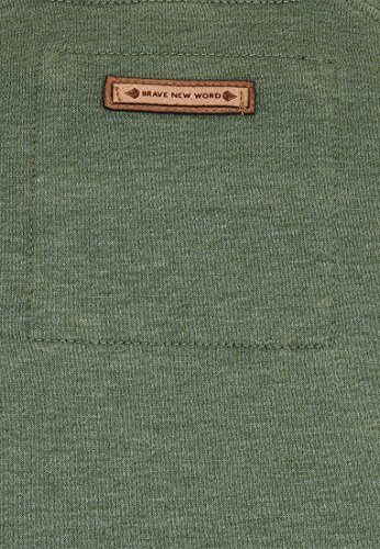 Naketano Male Sweatshirt First Blood VI Heritage Pine Green Melange