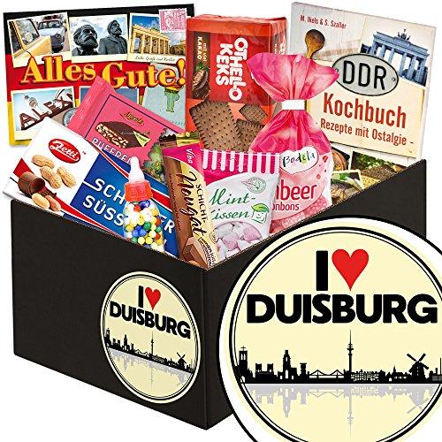 I love Duisburg / DDR Suessigkeiten-Box / Düsseldorf Geschenk für Frauen