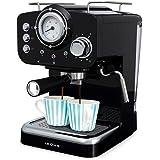 IKOHS THERA RETRO - Macchina del Caffè Express per caffè espresso e cappuccino, 1100 W, 15 bar, vaporizzatore regolabile, cap