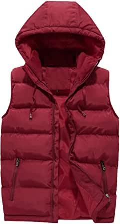 Panegy Winter Gilet Mens Padded Sleeveless Jacket Plus Size Mens Outdoor Quilted Waistcoat