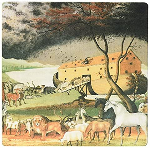 3dRose 8 x 8 x 0.25 Inches Mouse Pad, Noah's Ark by Edward Hicks American Art (mp_126877_1)