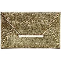 Le donne Glitter paillettes borsa partito sera elegante semplice busta portafoglio piccolo - Partita Busta