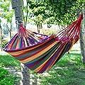 Zheng Hui Shop Hängematten Polyesterrot streift einzelne im Freienpicknickmatte der Hängematte 110 * 31 Zoll ab, die 120kg trägt von Zheng Hui Shop auf Gartenmöbel von Du und Dein Garten