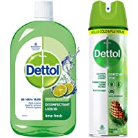 Dettol Disinfection Kit - Multipurpose Cleaner, Lime Fresh and Disinfectant Spray, Original Pine