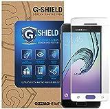 G-Shield Samsung Galaxy A3 2016 (A310F) Schutzfolie Weiß Gehärtetem Glas Vollbild/Vollständige Abdeckung Displayschutzfolie Screen Protector Folie Displayschutz Anti-Kratz Ultra Klar 9H Härte
