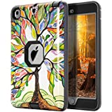 TOPSKY iPad Mini Case,iPad Mini 2 Case,iPad Mini 3 Case,[Kid Proof] The Tree of Life Pattern Shock-Absorption/High Impact Resistant Hybrid Armor Defender Case For iPad Mini 1/2/3, Black