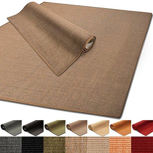 100% reines Sisal | Sisalteppich in verschiedenen Farben und vielen Größen (Kork, 200 x 240 cm) -