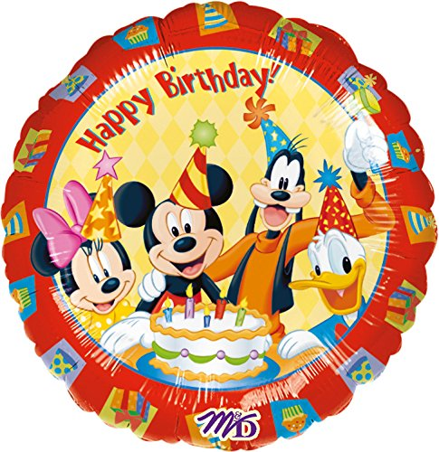 BIRTHDAY MICKEY MOUSE * für Kindergeburtstag oder Motto-Party // Folien Ballon Party Helium Deko Ballongas Motto Kinder Geburtstag Disney Micky Maus Goofy Minnie Donald Clubhouse (Mickey-mouse Geburtstag Deko)