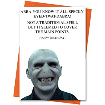 Funny Birthday Card Harry Potter Lord Voldermort Rude