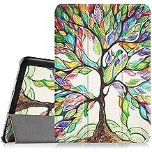 Fintie Samsung Galaxy Tab S2 8.0 Funda - Slim Fit Smart Funda Carcasa con Stand Función y Imán Incorporado para el Sueño/Estela para Samsung Galaxy Tab S2 8.0 pulgadas (Love Tree)