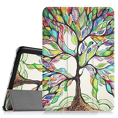 Fintie Samsung Galaxy Tab S2 8.0 Hülle Case - Ultra Schlank Superleicht Ständer Smart Shell Cover Schutzhülle Tasche mit Auto Schlaf / Wach Funktion für Samsung Galaxy Tab S2 8.0 T710 / T715 / T719 (8 Zoll) Tablet-PC, Liebesbaum