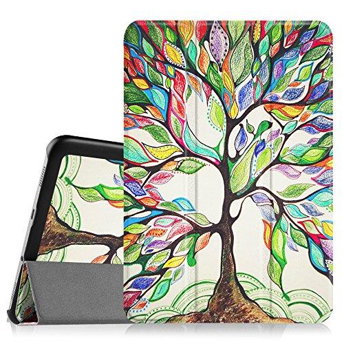 Fintie Samsung Galaxy Tab S28.0Hülle-Ultra Dünn-Gewicht leicht Tri-Fold Smart Case Cover Schutzhülle mit Sleep/Wake-Funktion für Samsung Galaxy Tab S28.0(8Zoll) Tablet, Love Tree