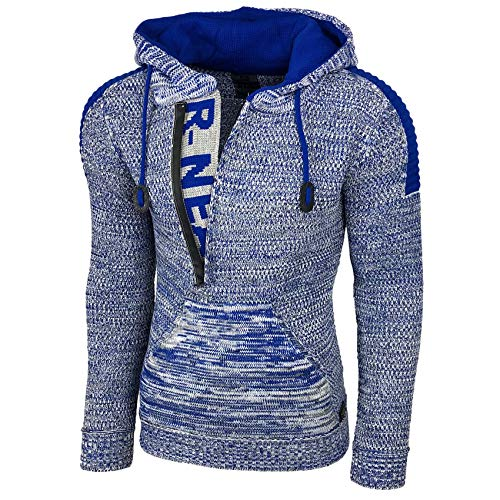 Rusty Neal Top Herren Winter Kapuzenpullover Pulli Sweatshirt Jacke RN-13277, Größe:M, Farbe:13290-1 Sax