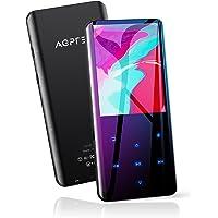 """AGPTEK Lettore MP3 Bluetooth 5.0 Lettore Musicale 32GB con Schermo Curvo 2,4""""MP3 Running Sport con Altoparlante HiFi Audio Senza Perdita con Radio FM,Registratore Vocale,Supporta Fino a 128 GB (Nero)"""