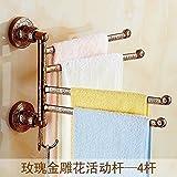 ZWJ Mensola per Asciugamani, Camera da Bagno per Camera Tie The Rotate Stand Shelf È Possibile Utilizzare Il Rose Gold 4 X 30 cm Lungo, Montaggio a Parete