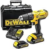 DeWalt 18V Li-Ion Cordless Compact Hammer Drill Driver, Yellow/Black, 13mm - DCD776S2-B5, 3 Years Warranty