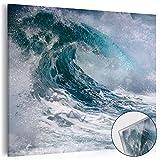 murando - Acrylglasbild Wasser 40x40 cm - Glasbilder - Wandbilder XXL - Wandbild - Bilder - WELLE MEER 030208-8