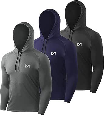 MEETYOO Men's Running Tops, Sport Shirt Long Sleeve T-Shirt Gym Tee for Fitness Workout Jogging