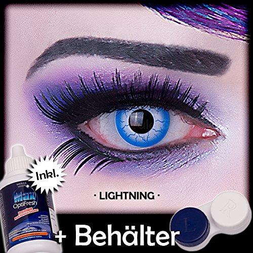 Meralens A0485 Lightening Kontaktlinsen mit Pflegemittel mit Behälter ohne Stärke, 1er Pack (1 x 2 Stück)