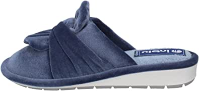 inblu LB000085 Blu Ciabatte Pantofole Donna Zeppa 3 CM Suola FLEXIMA Soft Walking