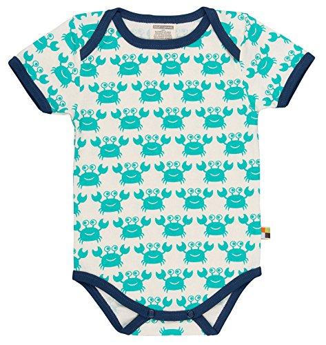 loud + proud Unisex Baby Bodys Body kurz, Druck, Animalprint, Gr. 56 (50/56), Grün (smaragd) Sm)