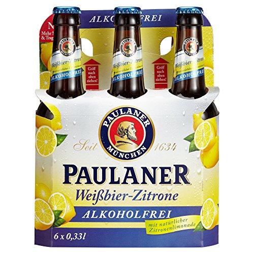 Paulaner Weißbier-Zitrone Alkoholfrei Biermischgetränk Mehrweg (6 x 0.33 l)