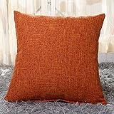 Zedtom - Coussins en coton - imprimé en lin - pour canapé vintage ou taies d'oreiller, multicolores Arancia