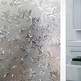 Velimax 3D Statisch Datenschutz Dekorativ Fensterfolie Kein Kleber Anti-UV Sonnenblockierung Elegantes Design für Zuhause Büro Badezimmer Wohnzimmer Küche 40x200cm