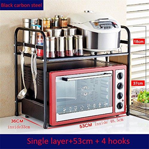 M-Dish racks- Étagère de cuisine en acier inoxydable / étagère de four à micro-ondes / étagère de four / support de stockage / rack d'épice / support d'outil de plancher plus épais (simple / double / trois couches) étagères de rangement petite ( couleur : #1 )